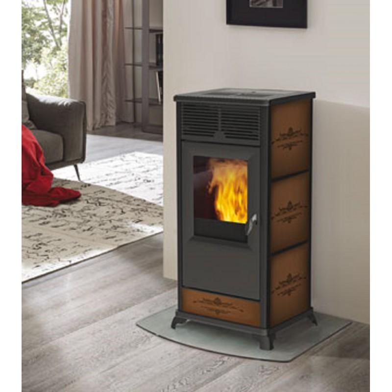 Termostufa a pellet italiana camini mod idropolis 16 2 kw ricambi per stufe - Edilkamin termostufe a pellet prezzi ...