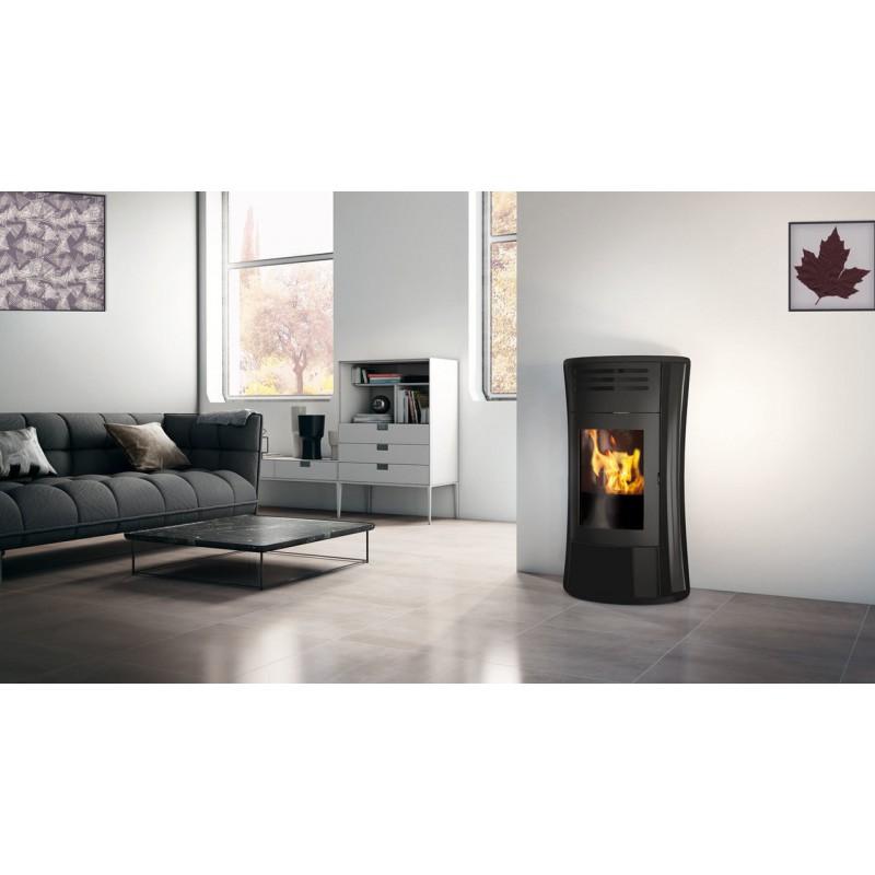 Termostufa a pellet edilkamin mod cherie up h vetro 16 2 kw ricambi per stufe - Edilkamin termostufe a pellet prezzi ...