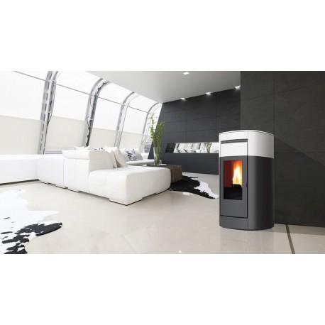 Termostufa a pellet edilkamin mod vyda h 18 7 kw ricambi per stufe - Edilkamin termostufe a pellet prezzi ...